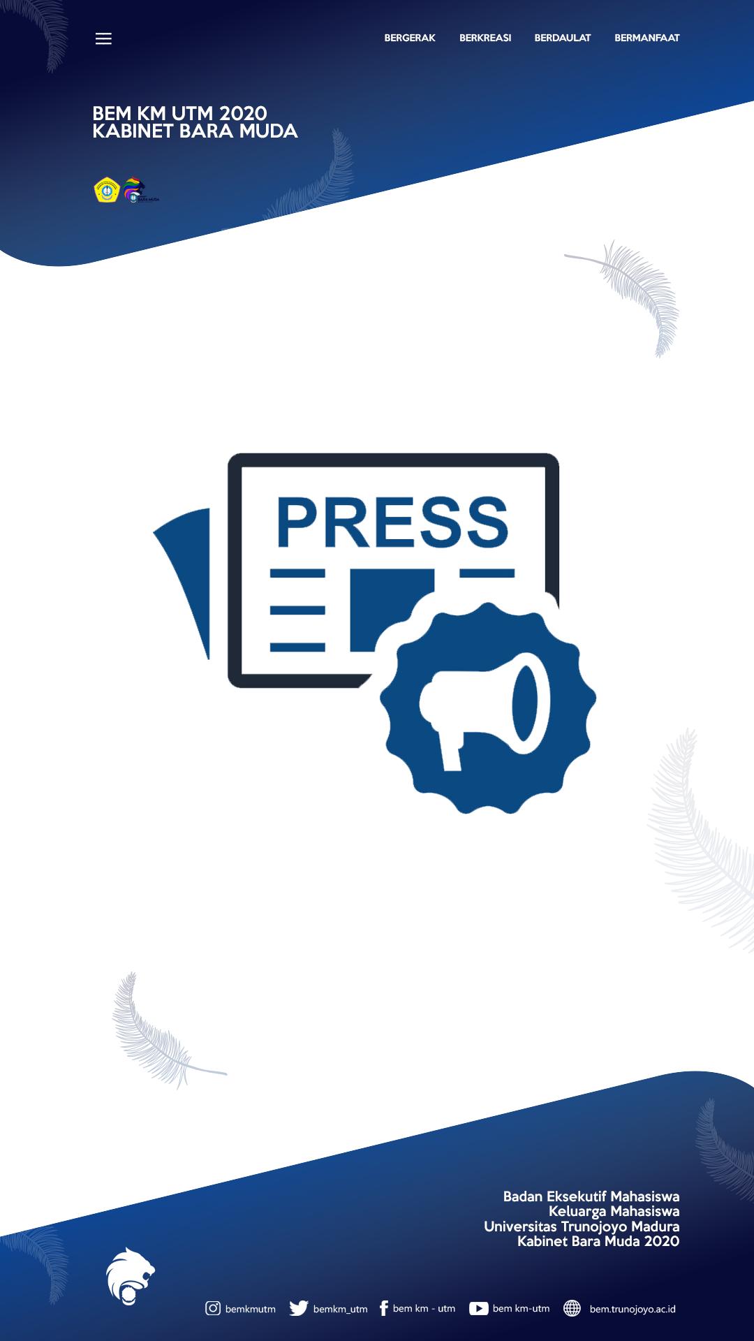 PRESS RELEASE MAHASISWA BERTANYA – PIMPINAN MENJAWAB