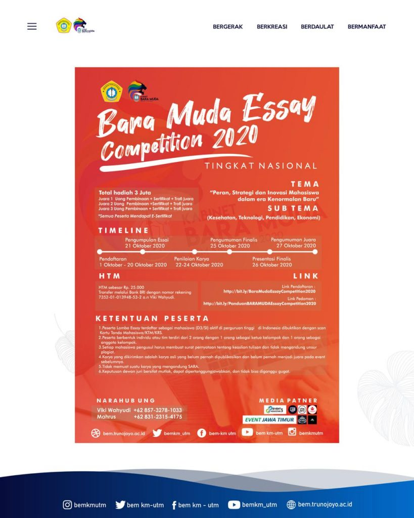 BARA MUDA ESSAY COMPETITION 2020
